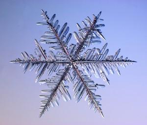 Углы между элементами снежинки 60 и 120 градусов